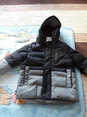 Reserved 98 Ocieplana kurtka o przedłużonym kroju dla chłopca