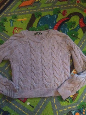 Кофта, свитер, вязанная, цвет пудра, S