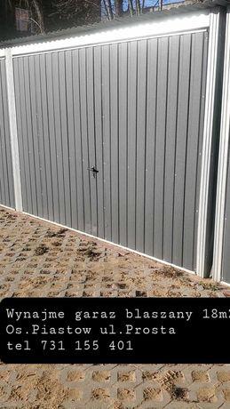 Wynajmę garaż blaszany 18m2 Os.Piastow ul.Prosta
