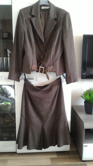 Elegancki komplet damski na podszewce spódnica + żakiet