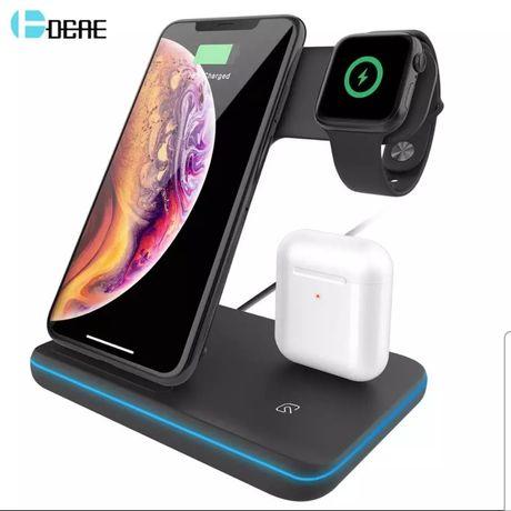 Ładowarka bezprzewodowa 3in1 15W do Iphone/Applewatch/Airpods