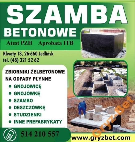 szamba betonowe szambo zbiornik betonowy komora od 4m3 do 12m3