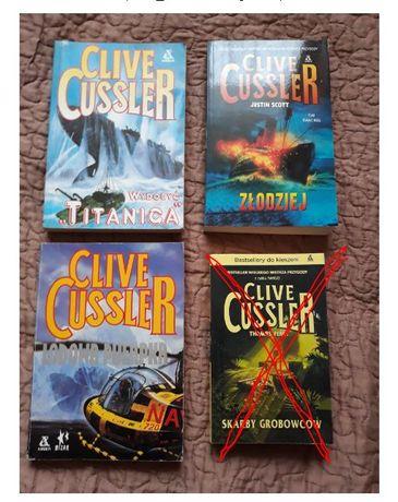 Clive Cussler - zestaw 3 książki - używane