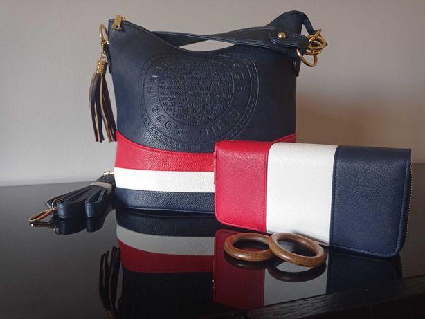 Conjunto Bolsa de ombro e bolsa multiusos em couro ecológico.