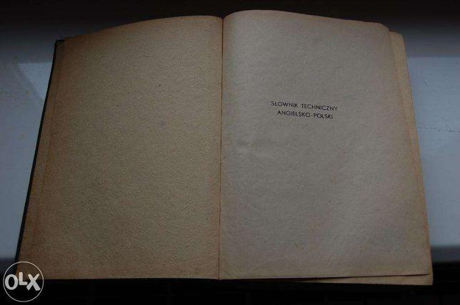Słownik techniczny angielsko-polski W-wa 1952