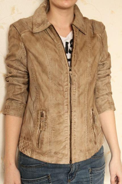 Кожаная куртка милстоун