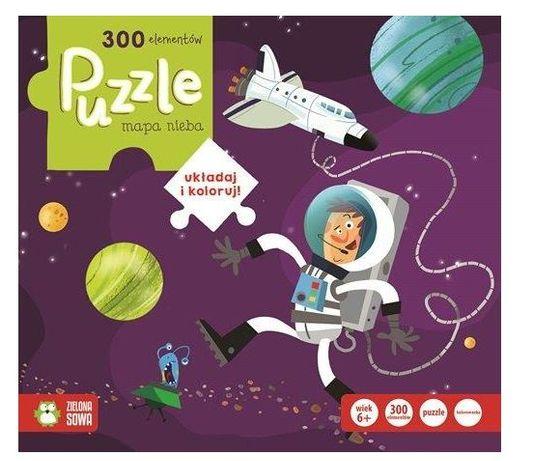 Puzzle Mapa nieba wyd. Zielona Sowa 300 elementów NOWE