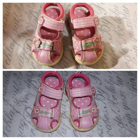 Босоножки Сандали Туфли для девочки розовые 20 размер.