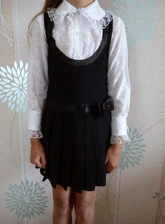 Школьный сарафан на девочку 8-9 лет