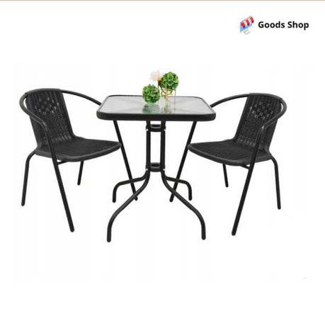 Набір садових меблів для дачі зі столом і двома стільцями Jumi