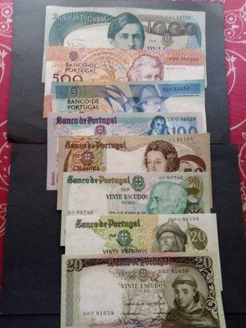 8 notas 20$,50$100$,500$,1000$ novas, ver fotos