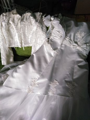 Sukienka komunijna plus dodatki