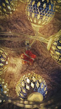 Невероятной красоты подвеска кулон серебро 925 + муранское стекло
