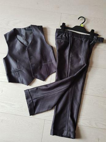 Zestaw garniturowy kamizelka +spodnie, rozm. 116