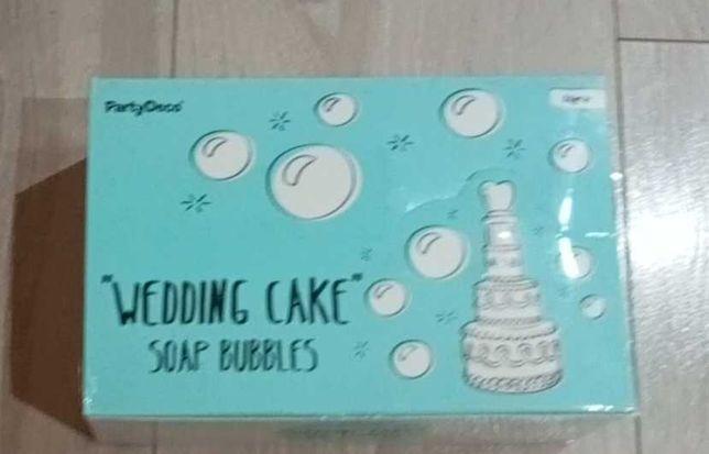 Bańki mydlane torcik - idealne na ślub, chrzest, urodziny