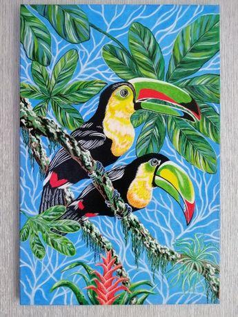Купить Картину на подарок Тукан птица жми живопись