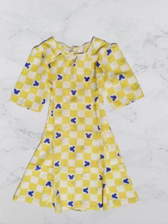 Яркое шифоновое платье с микки маусом