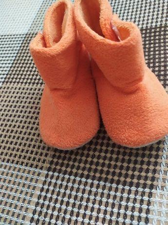 Пинетки ботинки осенние для девочки для мальчика 13 см стопа 6-12мес