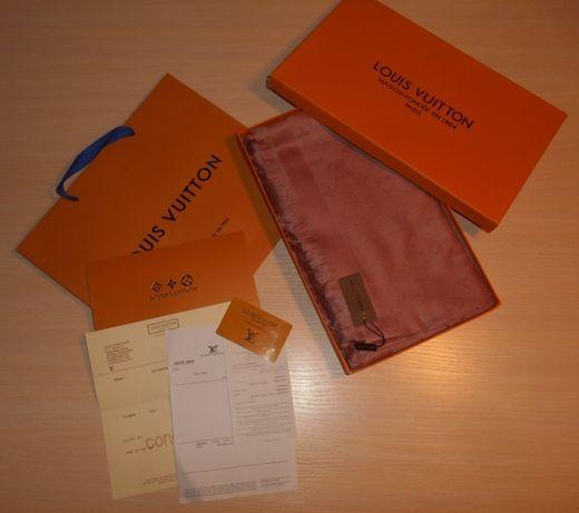 Louis Vuitton Chusta Szalik, Szal apaszka damski kasmirowa, Francja LV