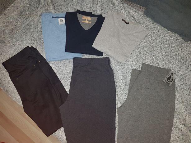 Spodnie i swetry męskie