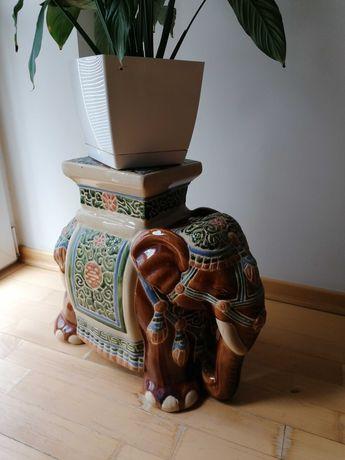 Słoń ceramiczny, orientalna figurka