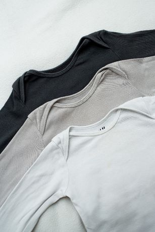 HM ORGANIC cotton 3-pak body 80 cm