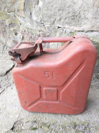 Kanister metalowy 5 litrów