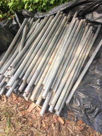 słupek ocynk fi 45/1,6mm długość 120-140 cm, 40 szt.