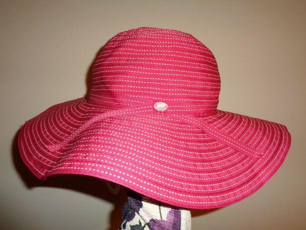 RADLEY modny LUX różowy letni plażowy NOWY kapelusz duże rondo lato