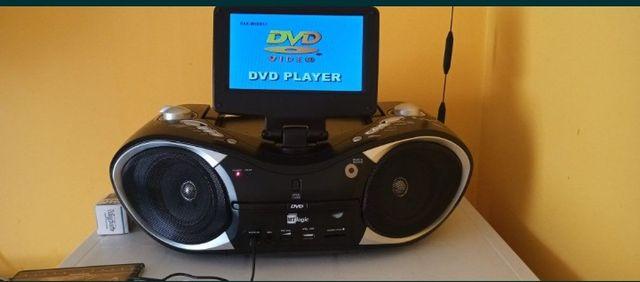 Radio z Dvd,USB, sd/MMC ,mikrofon,audio in wysylka gratis+pendrive