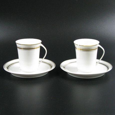 "Para filiżanek serwis ""Krokus"" – porcelana, Ćmielów, lata 60."