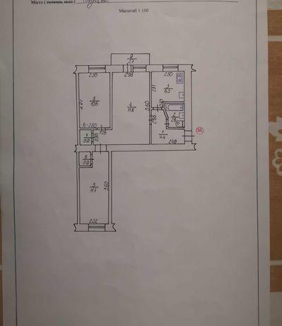 Продам  3-кімнатну квартиру по пр.Волі