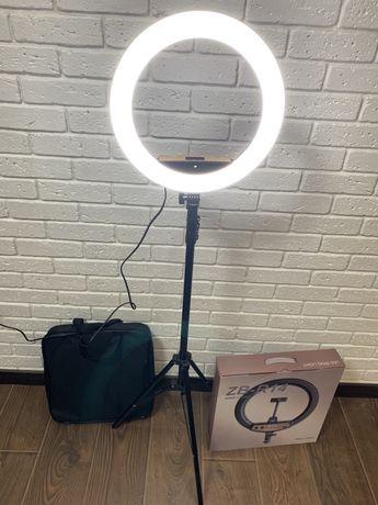 Кольцевая лампа 35 см профессиональная ZB-R14 + штатив