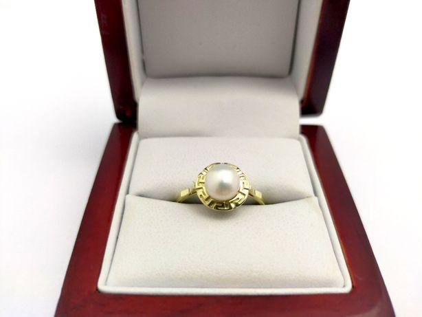 Złoty Pierścionek z PERŁĄ P333 3,08G