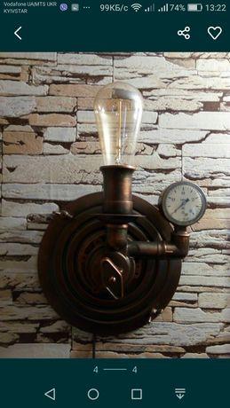 Стимпанк светильник