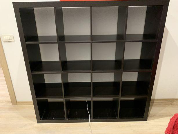 Ikea KALLAX regał 147x147 cm czarnobrązowy
