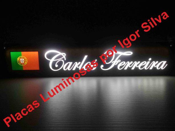 Matrículas Luminosas a LED-Qualquer nome/Símbolo para Camionistas