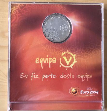 Moeda Prata 8€ Comemorativa Euro2004
