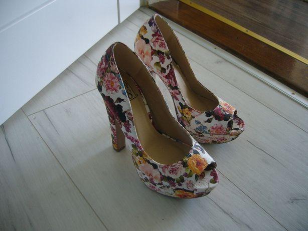 wysokie buty w kwiaty 37