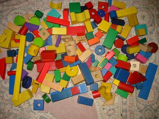 Детский деревянный конструктор 170 деталей