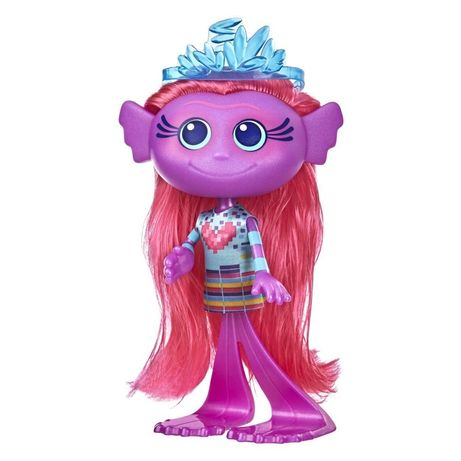 Trolls World Tour Стильная модная кукла-русалка тролль