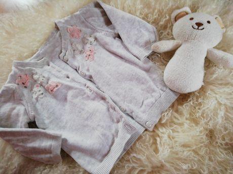 Elegancki Sweterek na guziki dla dziewczynki