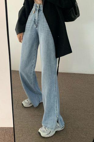 Джинсы Celine широкие, размер XS-S
