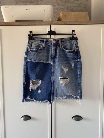 Niebieska jeansowa spódnica River Island S