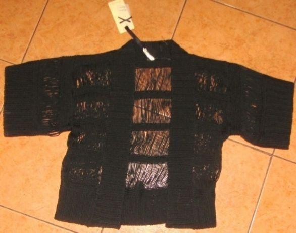 nowe bolerko czarne/nitki-akryl*Fashion Union*36 38 S M