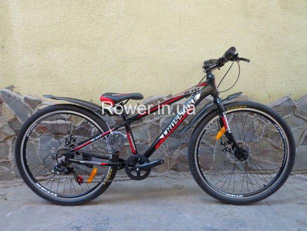 Новий алюмінієвий велосипед Crossbike Blast 26 Red / Дискові гальма