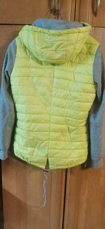 Neonowa żółta  kurtka