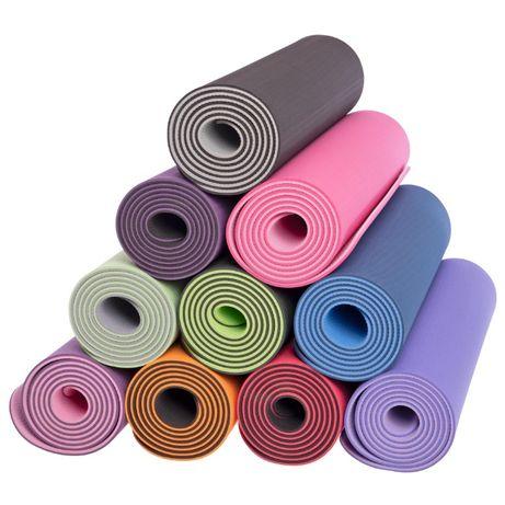 Коврик для йоги и фитнеса TPE+TC 6мм двухслойный SP-Planeta