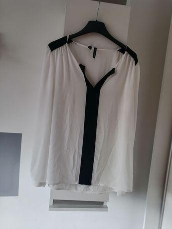 MANGO elegancka bluzka koszula bialo czarna