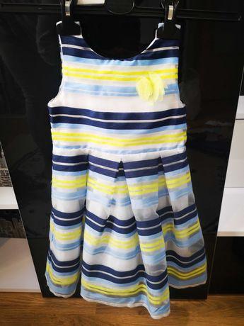 Piękna wizytowa sukieneczka firmy 5 10 15 rozmiar 92.